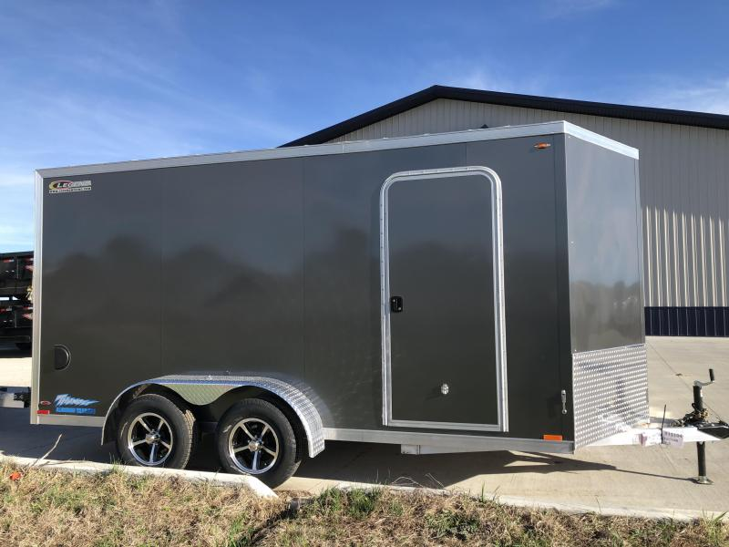 2019 Legend Trailers Charcoal Thunder  7'X14' + 2' V-Nose Tandem Axle Enclosed Cargo Trailer