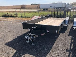 2019 H and H Trailers 8.5x18 Utility Solid Side Tandem Axle