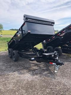 "2020 H and H Trailers 76""x12' Black Utility 5.2k Axles Dump Box Trailer"