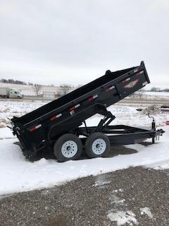"2019 H&H Trailers 83""x16' DBW Dump Box Tandem Axle"