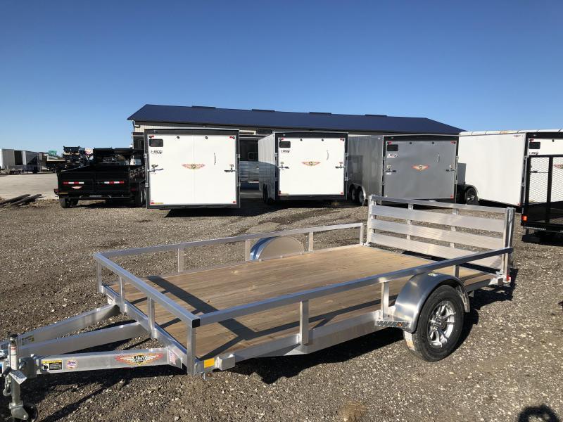 "2019 H&H Trailers 82""x12' Aluminum Utility Rail Side Single Axle"
