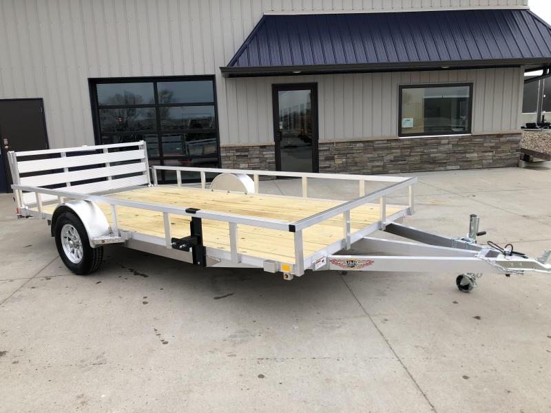 "2020 H and H Trailers 76""x12' Aluminum 3.5k Axle Utility Rail Side Trailer"
