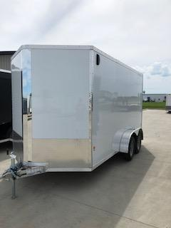 2019 CargoPro All Aluminum 7'X14'  Flat Top V-Nose Enclosed Cargo Trailer
