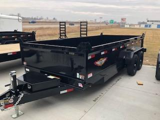 "2020 H and H Trailers 83""x16' DBW Dump Box 7k Tandem Axle Trailer"