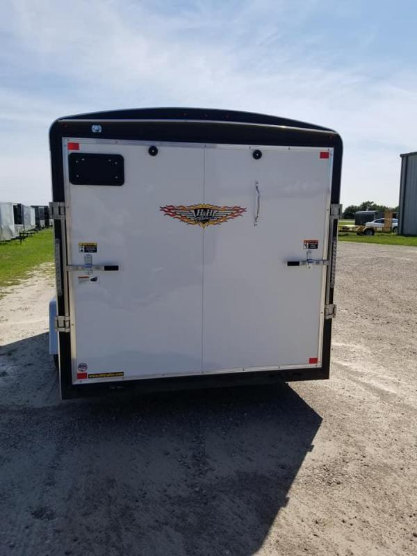 2020 H and H Trailers 6'x12' Cargo White Round Top R-Nose Single Axle