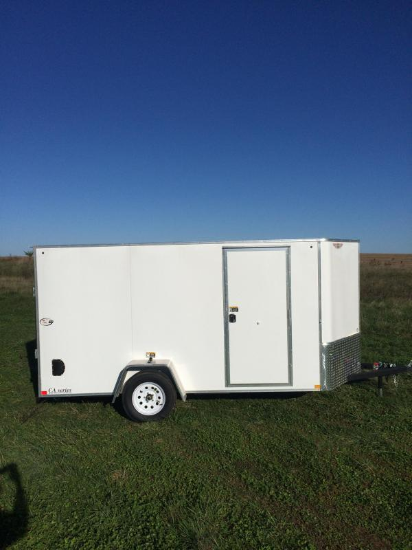 2020 H and H Trailers 6'x14' Cargo White Flat Top V-Nose Single Axle
