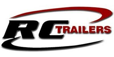 2020 RC Trailers 7'x23' Cargo White Flat Top V-nose Enclosed Snowmobile Trailer