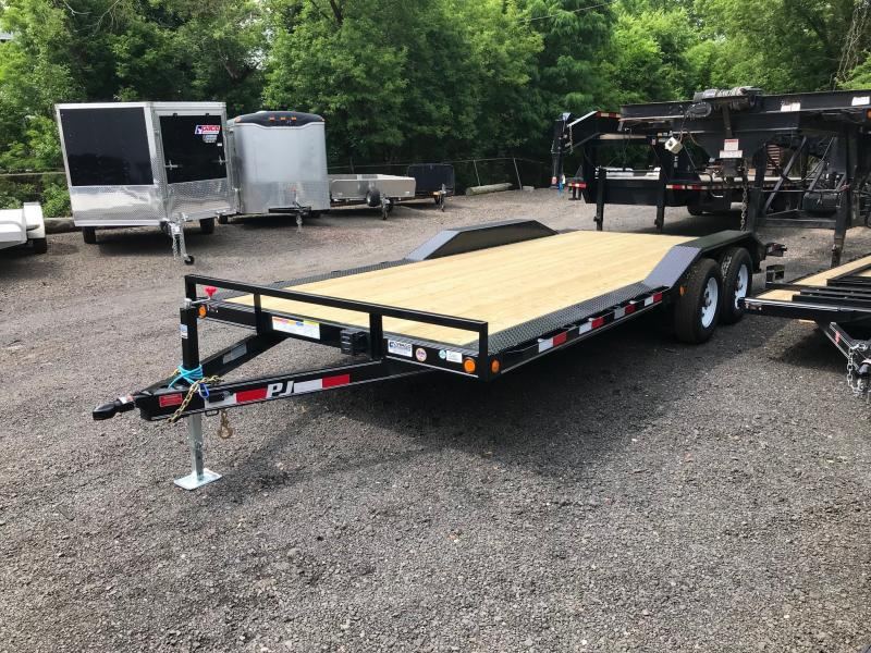 2019 PJ Trailers B5 20 Car Hauler Flatbed Trailer