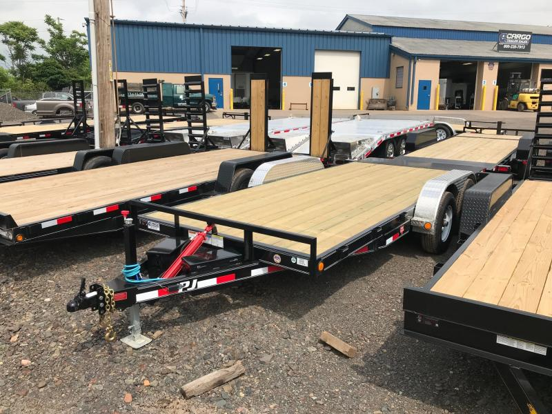 2019 PJ Trailers 18 Hydraulic Quick Tilt Flatbed Trailer