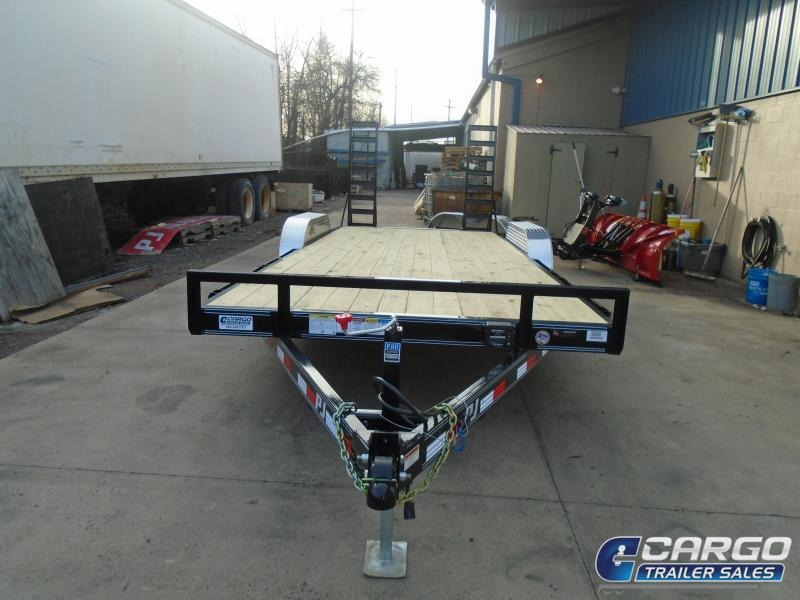 2019 PJ Trailers CE 20 5 Channel Equipment Flatbed Trailer