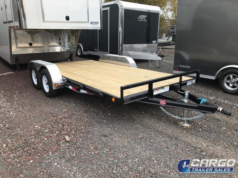 2018 PJ Trailers 16 C4 Car Hauler Flatbed Trailer