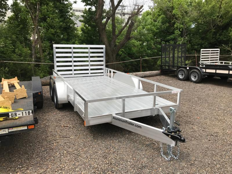 2017 Aluminum Trailer Company OUTAB7014+0-2T3.5K Flatbed Trailer