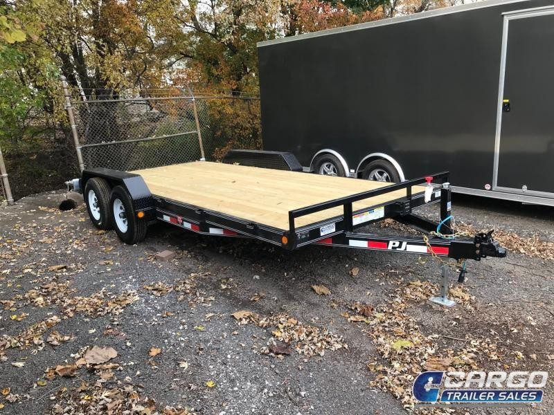 2018 PJ Trailers 18 CE 5 Channel Equipment Flatbed Trailer