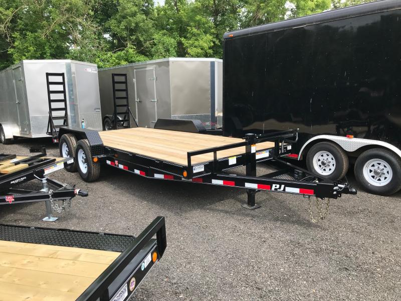 2019 PJ Trailers CC EQ 18 14k Flatbed Trailer