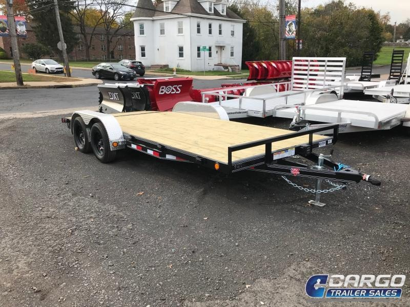 2018 PJ Trailers 18 C4 Car Hauler Flatbed Trailer