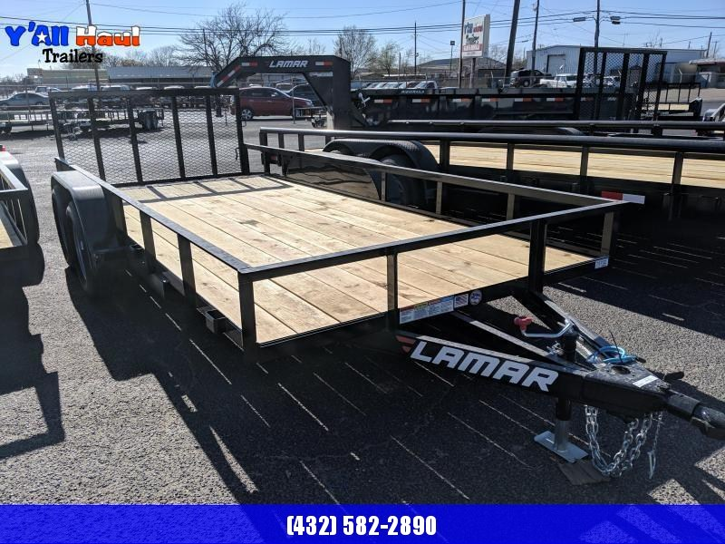 2019 Lamar Trailers 77x16 Utility Trailer Dovetail Ramps