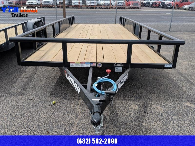 Lamar 83 X 20 PT Ramps Brake Equipment Trailer