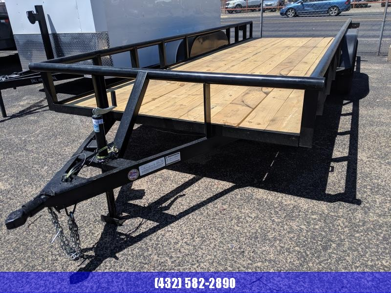 2019 C&M 82x20 Utility Trailer PT Ramps Brake