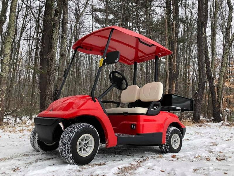 NEW Advanced EV electric golf cart w/cargo box and new batteries-FIRE RED
