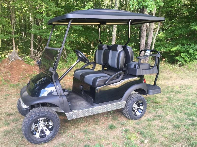 Lifted Custom Black Club Car Precedent 4 pass Golf Car-NICE!