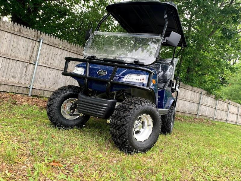SAVE $1500 NEW Street Legal Evolution LIFTED NAVY BLUE 4 pass golf car