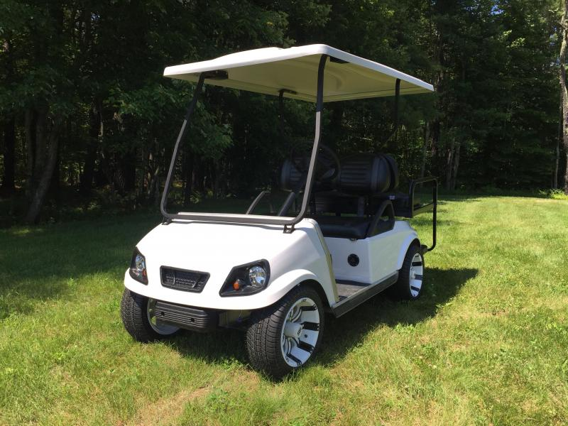 Club Car DS Custom Pearl Spartan Electric 4 passenger golf cart