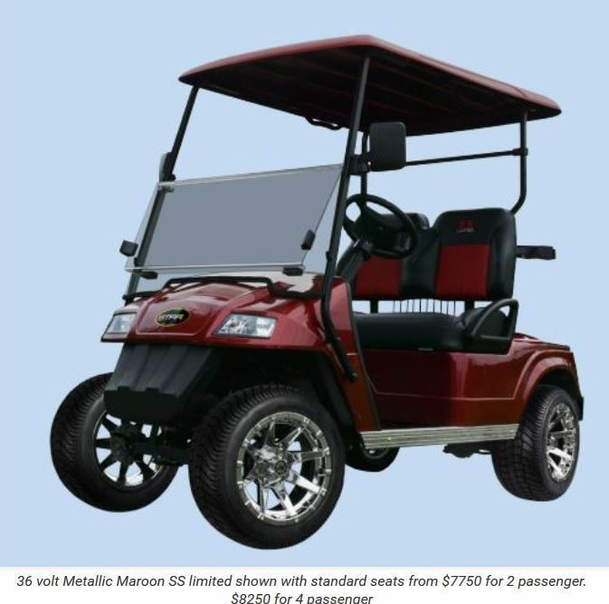 Star SS Limited 36 V 2 Passenger Golf Cart