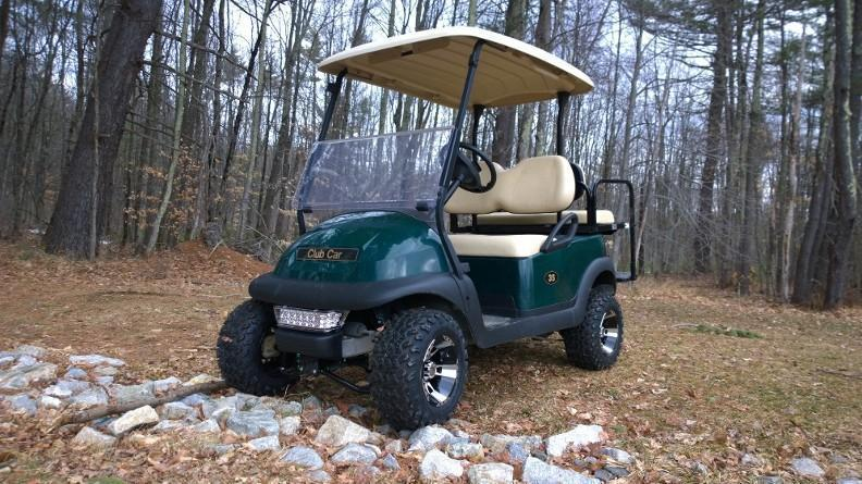 END OF YEAR SALE! Club Car Precedent Electric 4 Pass W/LIFT KIT Golf Cart
