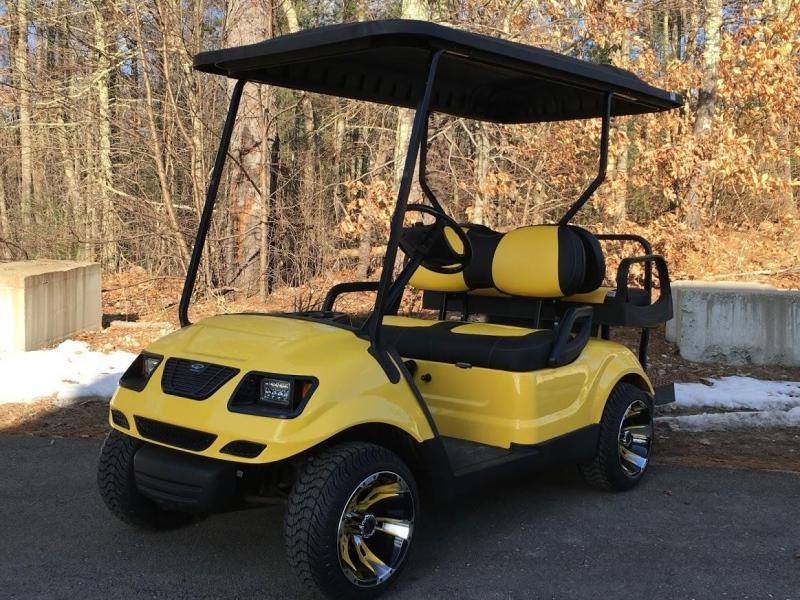 SWEET CUSTOM Yellow/Black 2014 Yamaha GAS Drive 4 PASSENGER Golf Cart