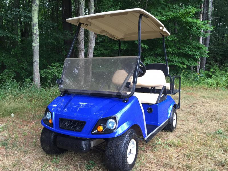 $129/m Club Car DS Custom Metallic Blue Spartan Electric 4 pass golf cart