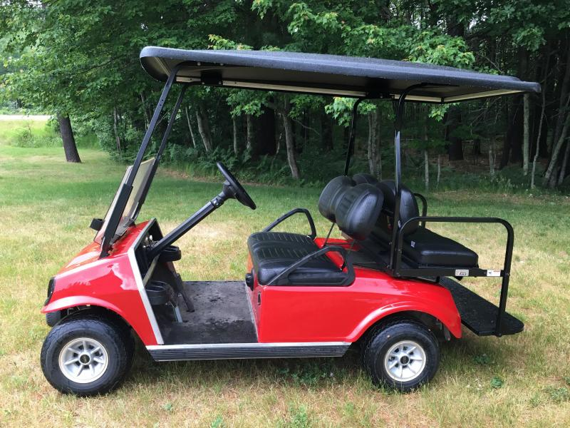 Club Car DS Custom Red Spartan Electric 4 passenger golf cart