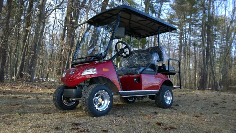2018 Evolution STREET LEGAL 4 pass 25MPH golf cart Candy Apple Red- 2yr warranty