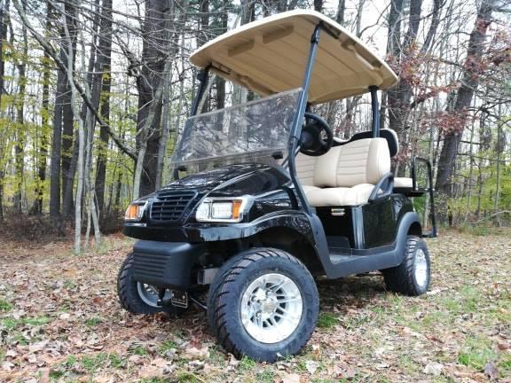 Custom Lifted Black Metallic Phantom Club Car Precedent 4 Pass Elect Golf Cart