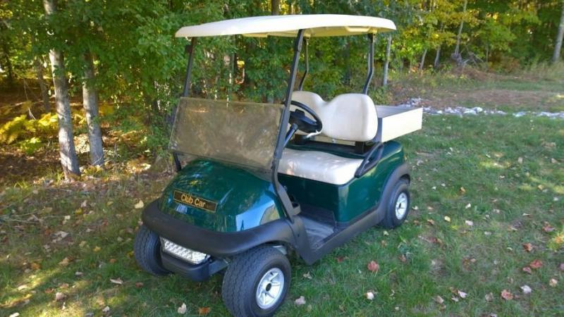 Club Car Precedent elec golf cart w/Alum Dump Utility Cargo Box Golf Cart