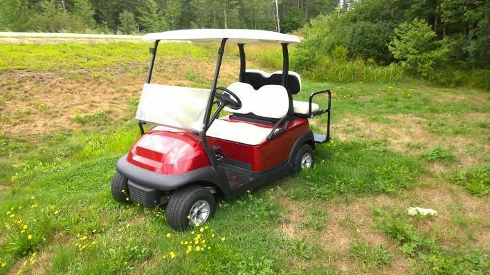 CANDY APPLE Metallic Club Car Precedent Elec4 Pass Golf Cart