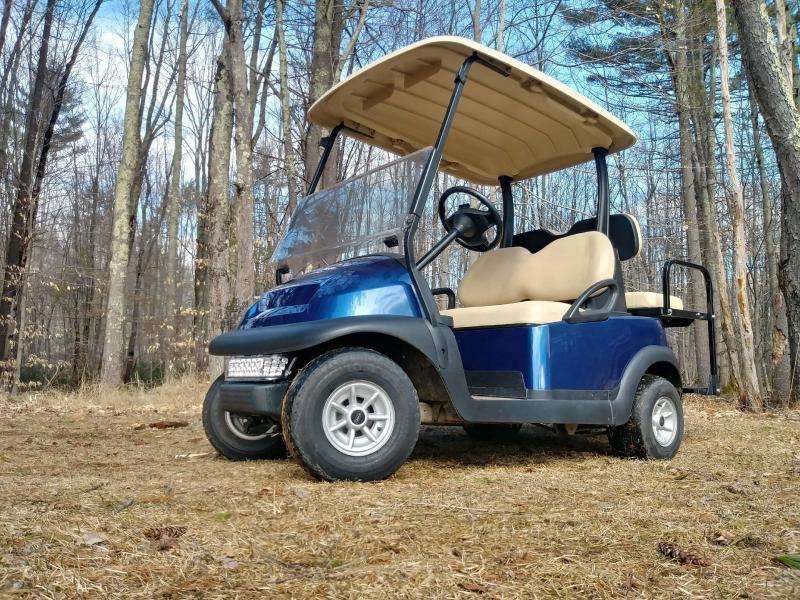 Sapphire Blue Metallic Club Car Electric 4 Pass Golf Cart 2016 battery