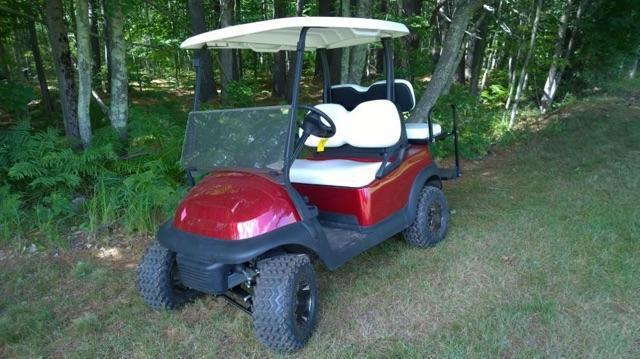 CANDY APPLE Lifted Club Car Precedent Elec 4 Passenger Golf Cart