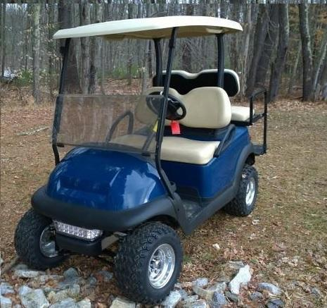 Club Car Precedent Sapphire Blue Metallic 4 pass golf cart LIFTED/CUSTOMIZE YOURS AND SAVE