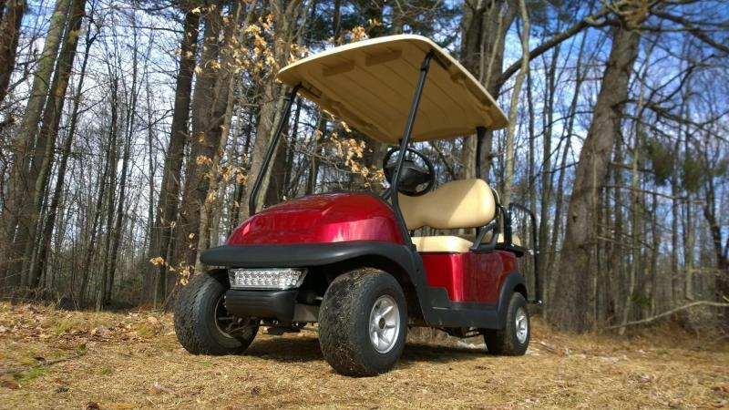 Candy Apple Red Metallic Club Car Elec 4 Pass Golf Cart 2016 battery