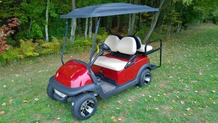 Candy Apple Red Custom Club Car Precedent 4 pass elect