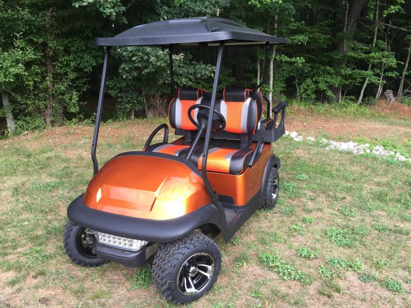 Metallic Atomic Orange TSUNAMI Club Car all terrain tires