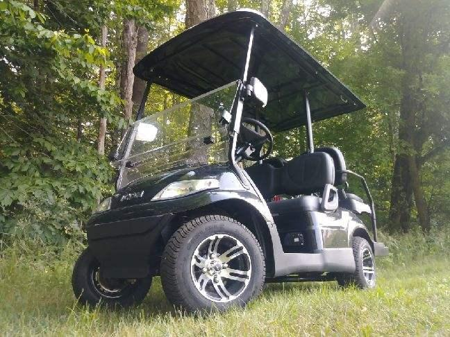 NEW 2018 Icon i40 METALLIC BLACK 25MPH 4 pass golf car SUPER NICE-FAST