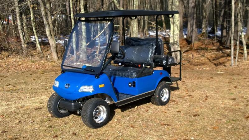 2018 Evolution STREET LEGAL 25MPH 4 pass golf cart-Blue 2 yr warranty