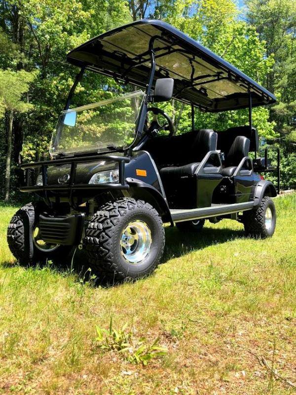 Street Legal LSV 25 MPH Evolution Forester 6 pass LIMO Golf Car BLACK