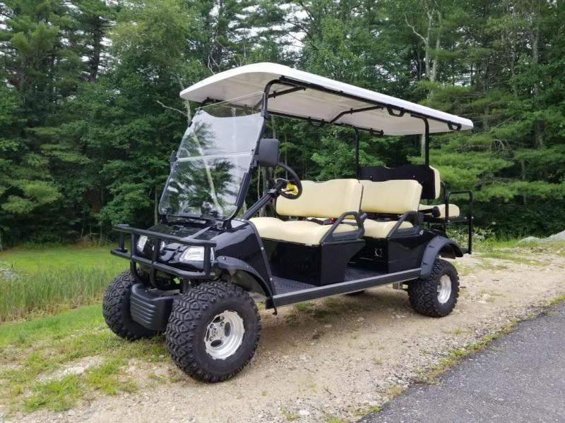 STREET LEGAL LSV 25MPH Evo Forester 6 pass LIMO Golf Car BLACK