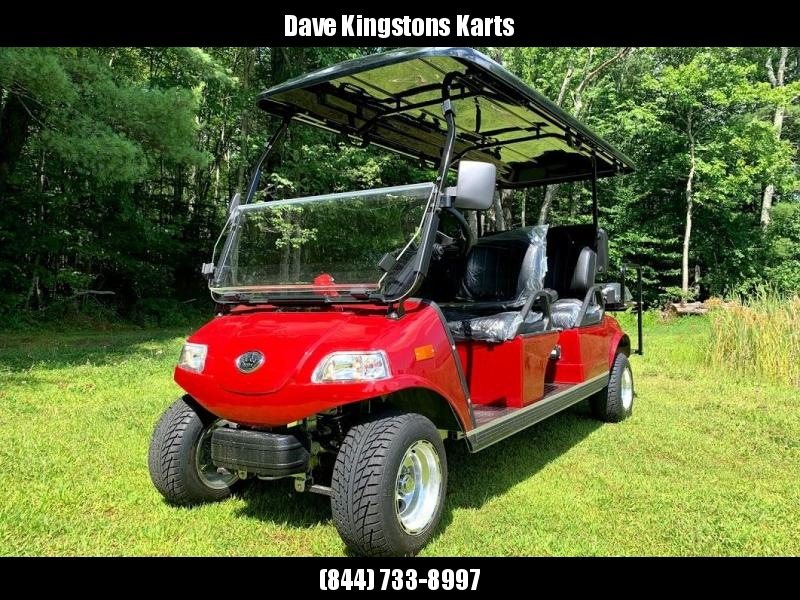 SAVE $1800 NEW Evolution STREET LEGAL 6 pass 25MPH golf car LIMO RUBY