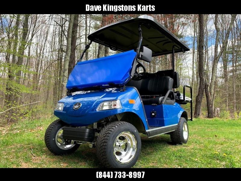 2019 Evolution STREET LEGAL 4 pass 25MPH golf car AQUA BLUE 2yr WRRNTY