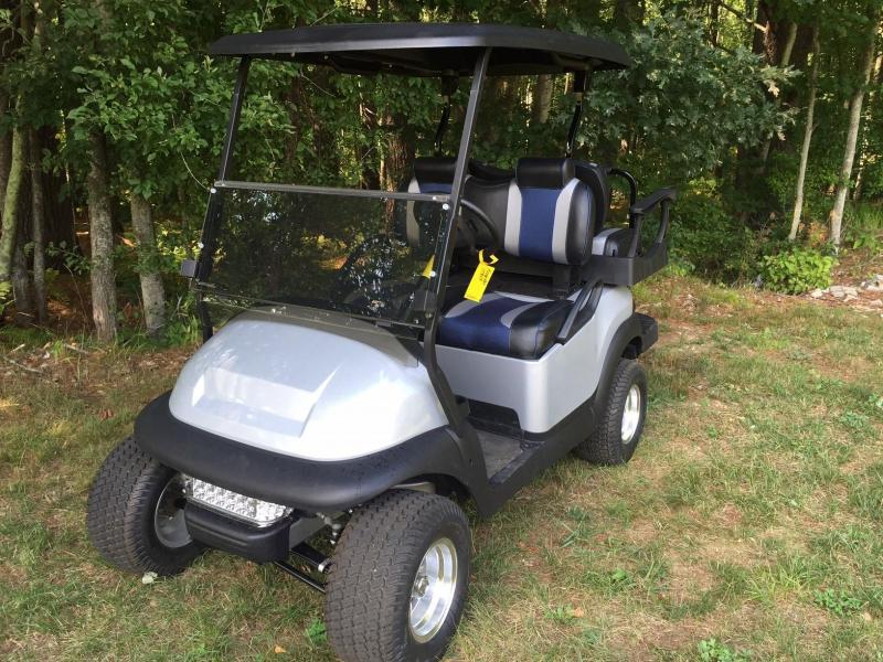 TsunaminMetallic Silver Custom Club Car Precedent 4 pass Golf Cart