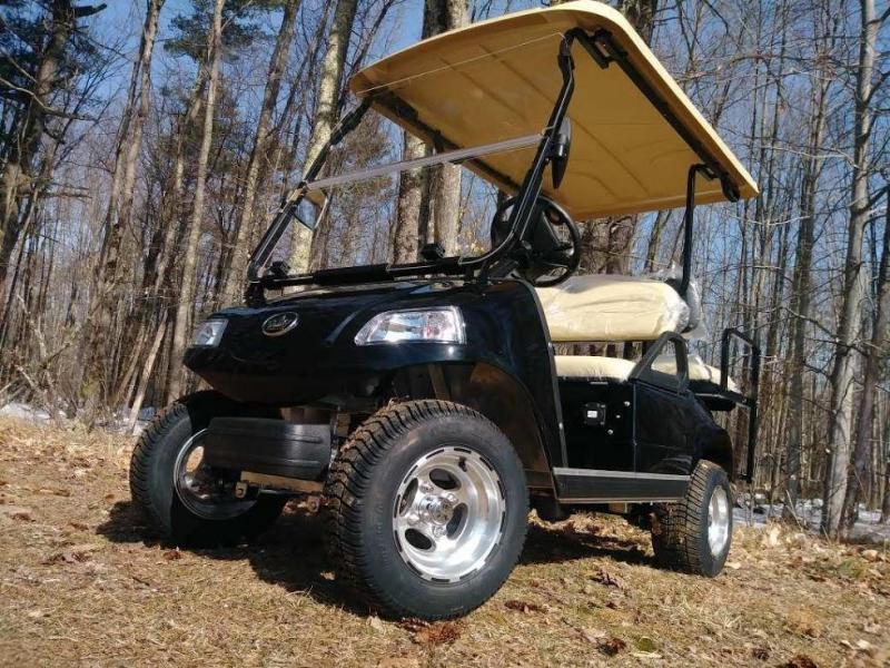 2018 Evolution Classic 4 pass golf cart-BLACK 2yr warranty $5999