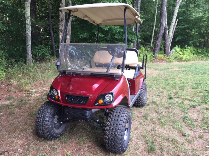 Club Car DS Custom Burgundy Metallic Spartan Electric 4 pass golf cart